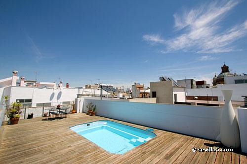 apartment pedro terrace seville. Black Bedroom Furniture Sets. Home Design Ideas