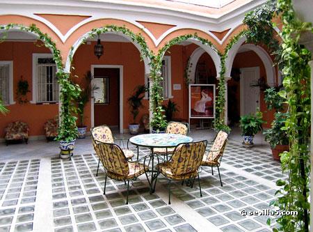 Hostal sierpes hostal en el centro de sevilla - Imagenes de patios andaluces ...