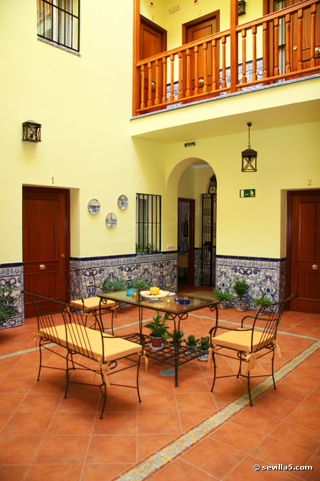 Guests Enter The Hostal Through The Reception Area And Central Patio.  Filled With Plants And Typical Ceramic Tiles, The Patio Is A Quiet,  Welcoming Area, ...